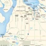 Travel map of Tacoma, Washington