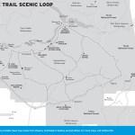Travel map of the Apache Trail Scenic Loop