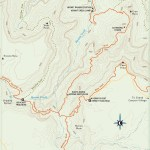 Travel map of Hermit Trail in the Grand Canyon