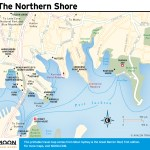 Travel map of the The Northern Shore of Sydney, Australia.