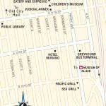 Travel map of Downtown Tacoma, Washington