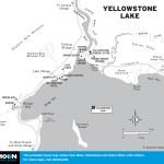 Map of Yellowstone Lake