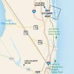 Travel map of Florida's Atlantic Coast South