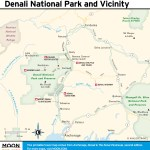Travel map of Denali National Park and Vicinity