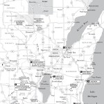 Map of East Central Waters in Wisconsin