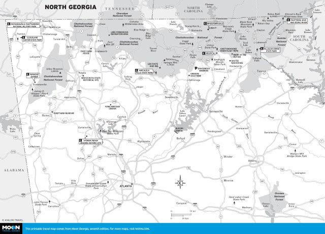 Map of North Georgia