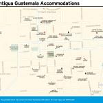 Travel map of La Antigua Guatemala Accommodations