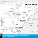Travel map of Rabun County.