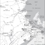 Travel map of the Acadian Coast, New Brunswick