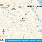 Travel map of Barranquilla, Colombia