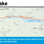 Travel map of Logging Lake