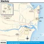 Travel map of Mackay, Australia
