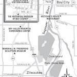 Travel map of Saginaw and Bay City, Michigan
