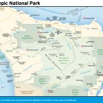Travel map of Olympic National Park.
