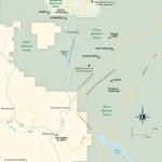 Map of Camping South of Yosemite: HWY 41