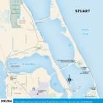 Travel map of Stuart, Florida