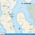 Travel map of St. Augustine, Florida