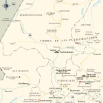 Travel map of The Western Highlands of Guatemala