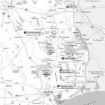 Map of East Texas Getaways