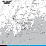 Travel map of Maine's Mid-Coast Region