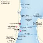 Travel map of The Riviera Maya