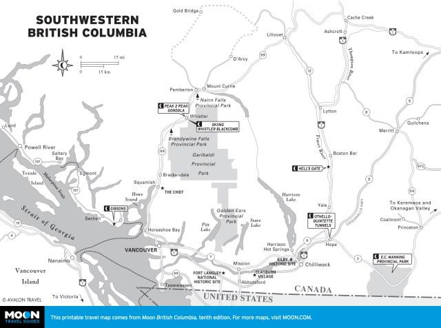 Map of Southwestern British Columbia