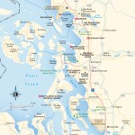 Travel map of Northern Puget Sound, Washington