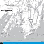 Travel map of Bath Area, Maine