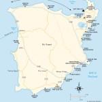 Travel map of Ko Samui, Thailand