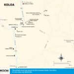 Travel map of Koloa, Kauai, Hawaii