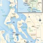 Travel map of Whidbey Island, Washington
