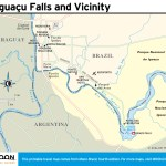 Travel map of Iguaçu Falls and Vicinity, Brazil