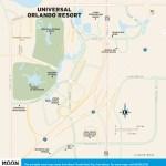 Travel map of Universal Orlando Resort, Florida