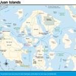 Travel map of Washington's San Juan Islands