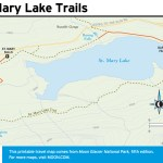Travel map of St. Mary Lake Trails