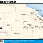 Travel map of Friday Harbor, Washington