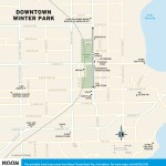 Travel map of Downtown Winter Park, Florida