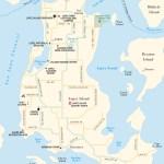 Travel map of Lopez Island, Washington