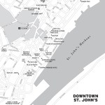 Travel map of Downtown St. John's, Newfoundland