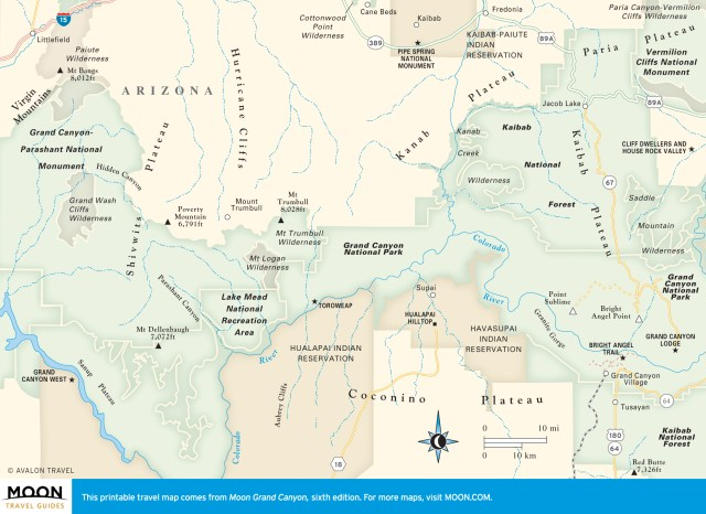 Travel map of Beyond the Boundaries of the Grand Canyon