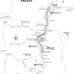 Map of the Okanagan Valley, BC