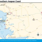 Travel map of the Southern Aegean Coast.