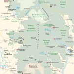 Travel map of the North Cascades