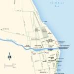 Map of Dangriga, Belize