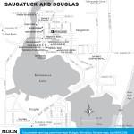 Travel map of Saugatuck and Douglas, Michigan