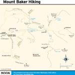 Hiking trail map of Mount Baker, Washington
