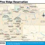 Travel map of Pine Ridge Reservation