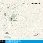 Map of Nazareth, Israel