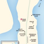 Map of The Placencia Peninsula, Belize