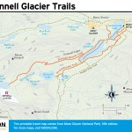 Travel map of Grinnell Glacier Trails